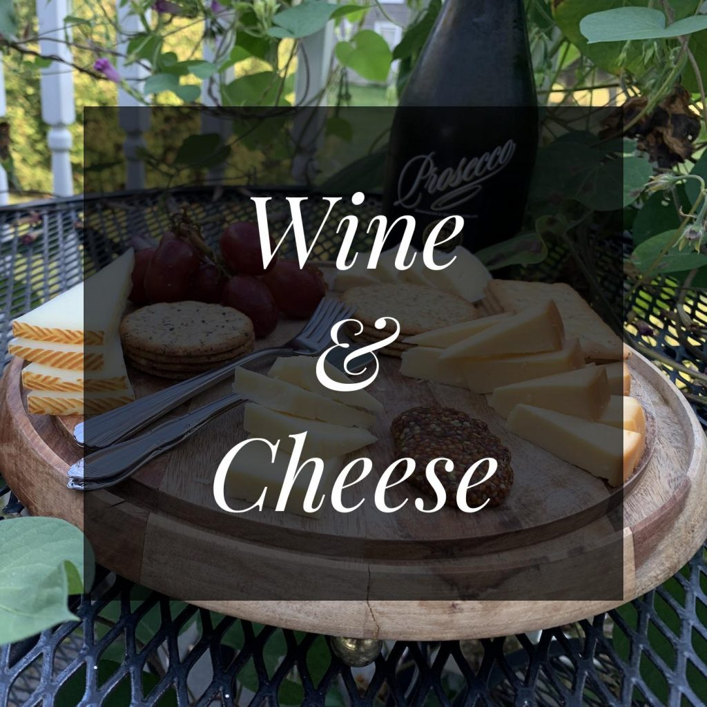 Wine and cheese make the best romantic idea while you stay near Harrisonburg, Virginia
