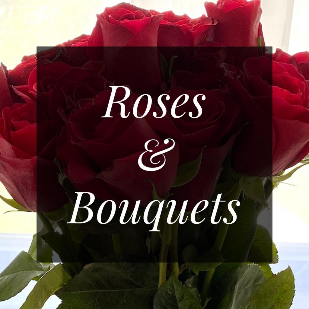 One dozen red roses in a vase to make your lodging in Virginia extra special.