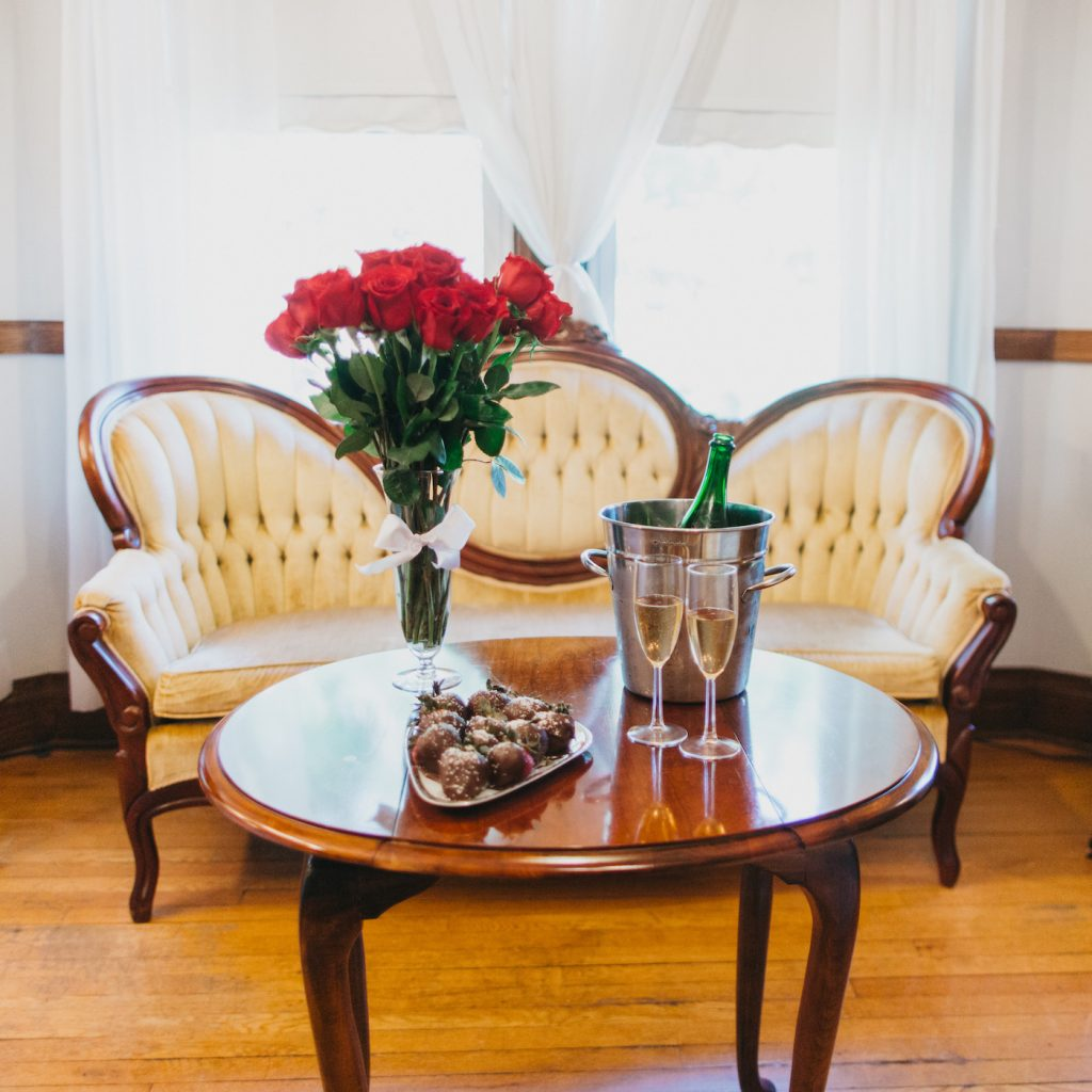 Roses and chocolate are the best anniversary gift at our Virginia B&B